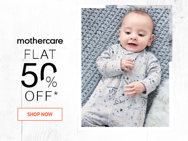 Mothercare Flat 50% Off