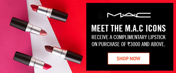 MAC Receive a Complimentary Lipstick on Purchase of Rs.3000 and above